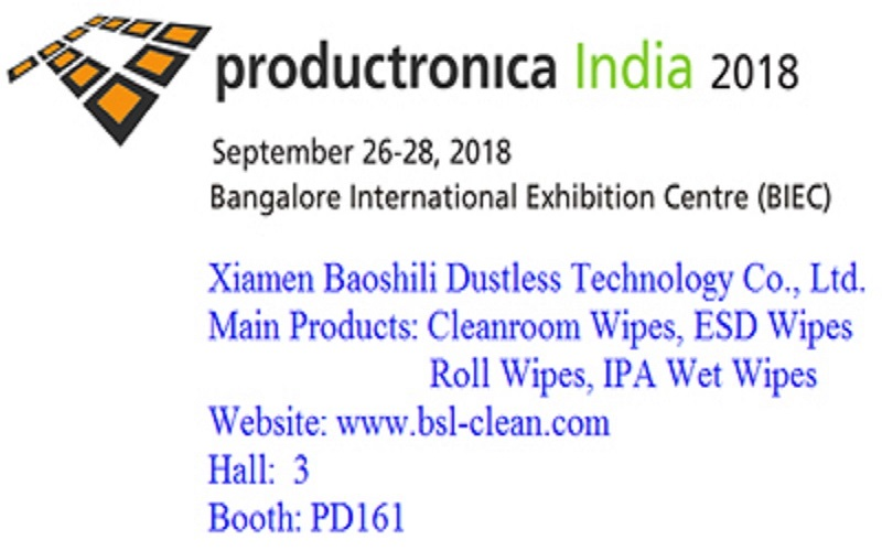 salon productronica india 2018, date: le 26 sep. au 28,2018